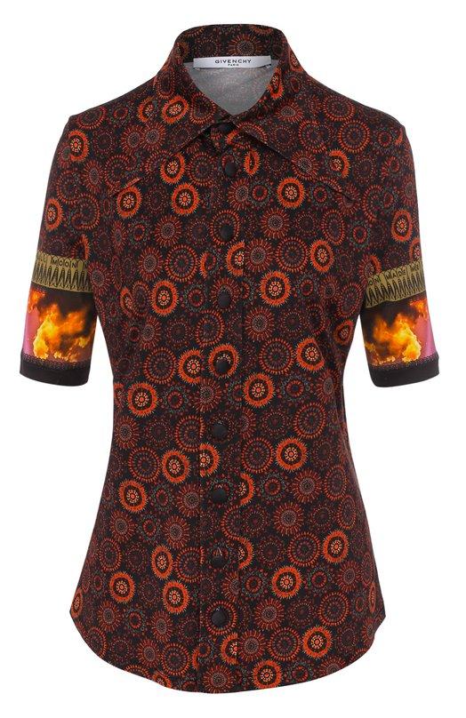 Блуза с укороченным рукавом и принтом Givenchy 17U6727483