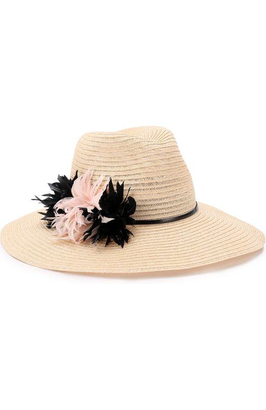 Шляпа Emmanuelle с цветами из перьев Eugenia Kim