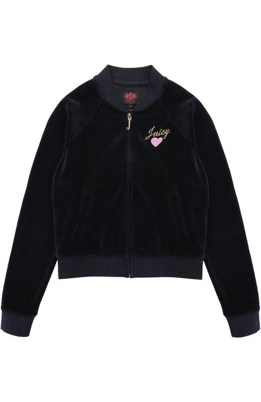 Спортивный кардиган с вышивками Juicy Couture GTKJ65391