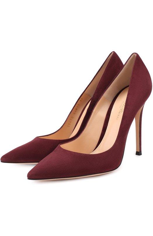 Купить Замшевые туфли Gianvito 105 на шпильке Gianvito Rossi, G28470.15RIC.CAM, Италия, Бордовый, Стелька-кожа: 100%; Подошва-кожа: 100%; Замша натуральная: 100%;