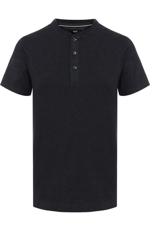 Хлопковая футболка с вырезом на пуговицах HUGO 50328857