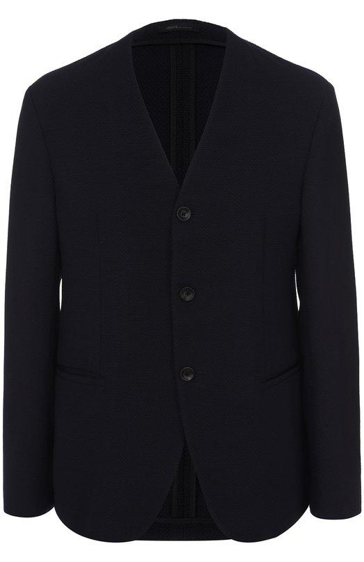 Однобортный пиджак на пуговицах Armani Collezioni VCG790/VCS89