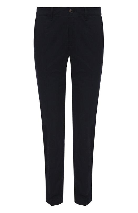 Купить Хлопковые брюки прямого кроя Moncler, C1-091-11016-90-57448, Румыния, Темно-синий, Хлопок: 98%; Эластан: 2%;