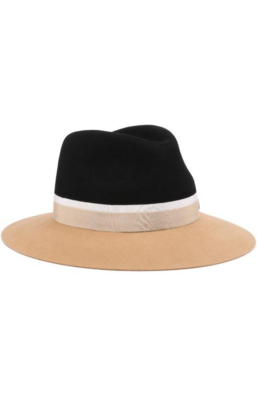 Купить Фетровая шляпа Henrietta с лентой Maison Michel, 1002040003/HENRIETTA, Германия, Черный, Фетр/кролик/: 90%; Хлопок: 7%; Вискоза: 3%;