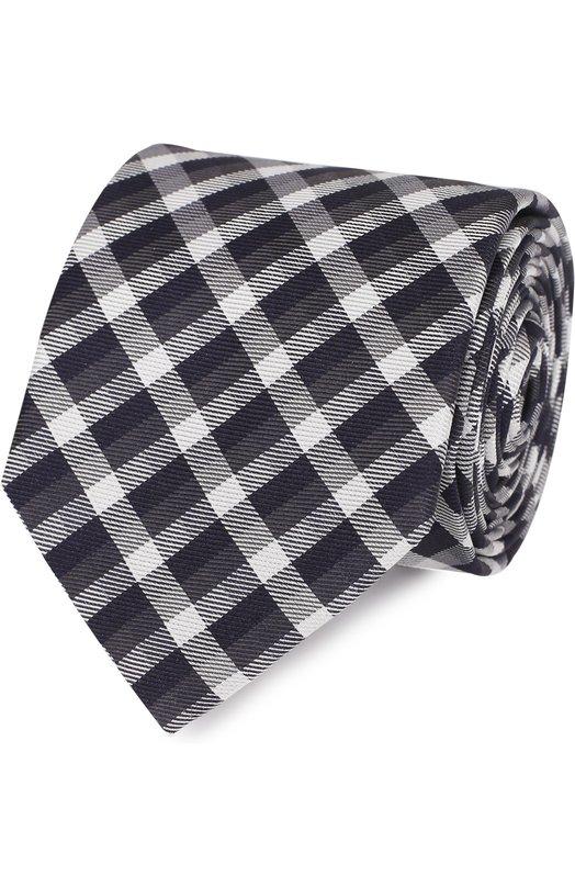 Шелковый галстук с узором HUGO 50326835
