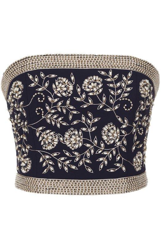 Топ-бюстье с контрастной цветочной вышивкой Alice + Olivia CG702E02006