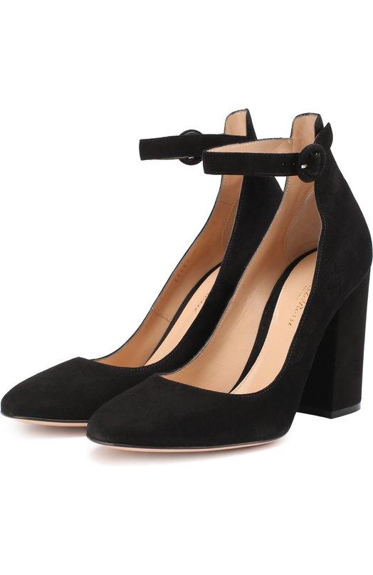 Купить Замшевые туфли Greta на устойчивом каблуке Gianvito Rossi Италия 5166843 G20487.00RIC.CAM