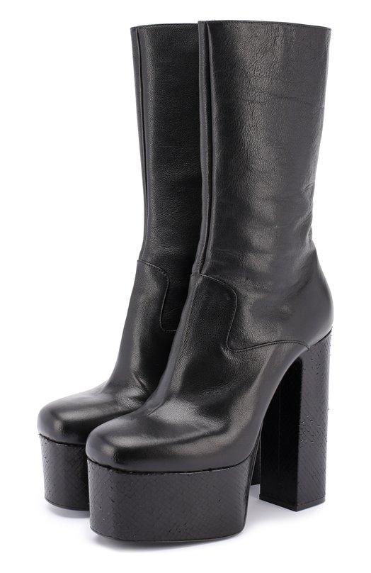 Кожаные сапоги на высоком каблуке и платформе Dsquared2 S17B0101/1297