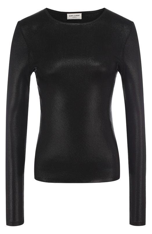 Облегающий пуловер с металлизированной отделкой Saint Laurent 459792/YA2IG