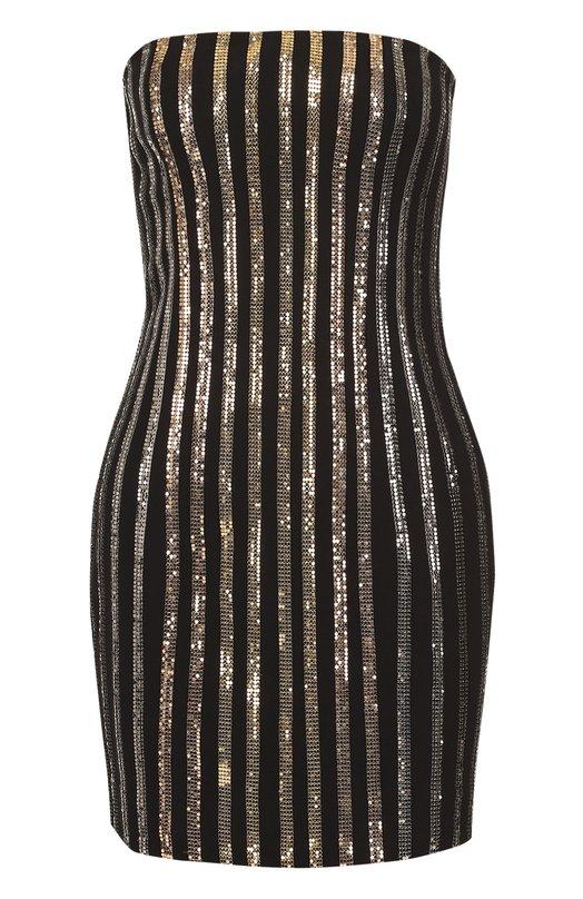 Платье-бюстье с контрастной отделкой Balmain 3487/166D