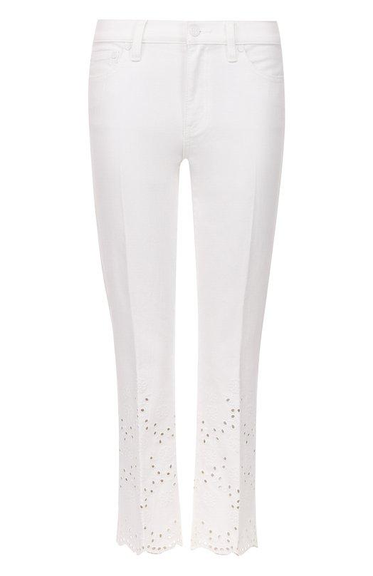 Укороченные джинсы с перфорацией Tory Burch 37486