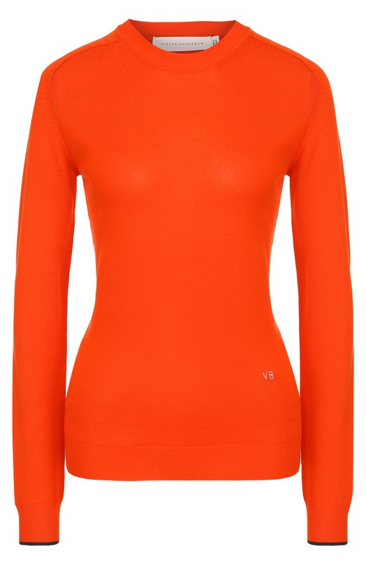Облегающий пуловер с круглым вырезом Victoria Beckham TP KNT 1008 MSS17 C0MPCT JERSEY VK3016
