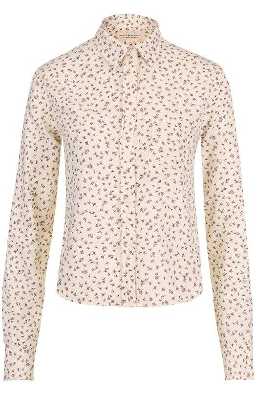 Укороченная блуза прямого кроя в клетку Denim&Supply by Ralph Lauren 288650942