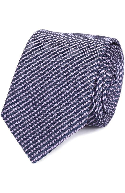 Шелковый галстук в полоску HUGO 50326757