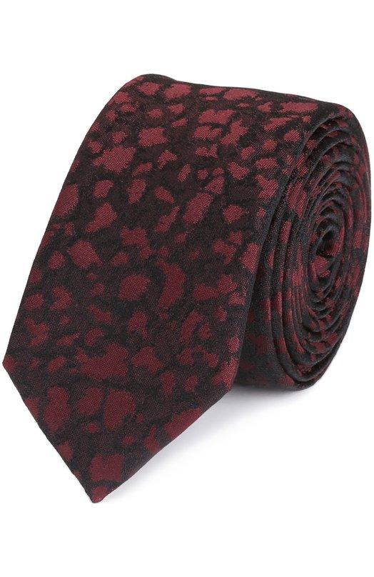Шелковый галстук с узором HUGO 50326799