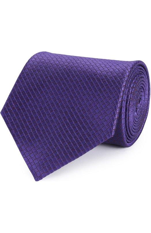 Шелковый галстук с узором Ermenegildo Zegna Z9E331XW