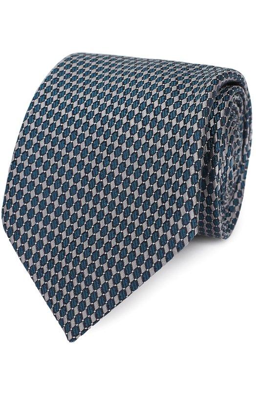 Купить Шелковый галстук с узором Brioni Италия 5127878 062H/P6475