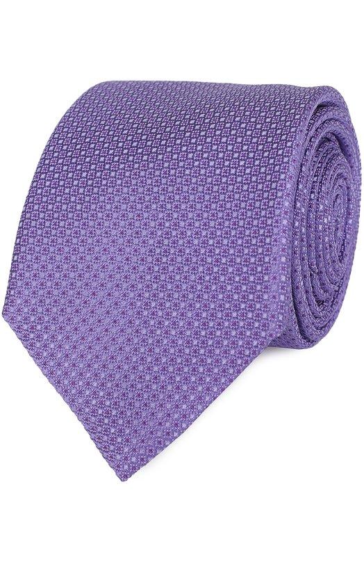 Шелковый галстук с узором Canali HJ00948/18