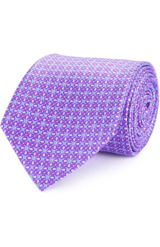 Шелковый галстук с узором Canali HS01082/18