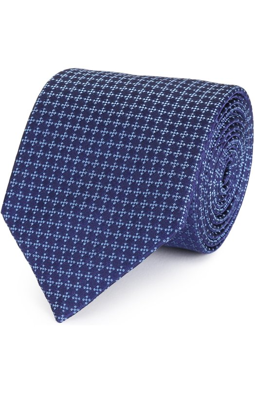 Шелковый галстук с узором Armani Collezioni 350027/7P323