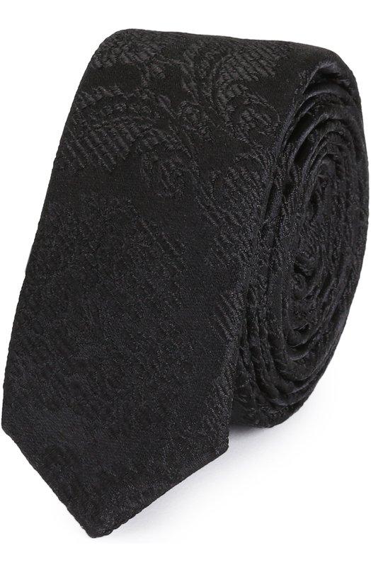 Шелковый галстук с узором Dolce & Gabbana 0135/GT142E/G0JED