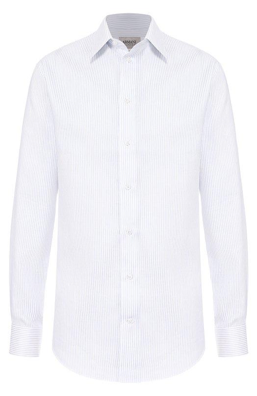 Рубашка из смеси хлопка и льна с воротником кент Armani Collezioni VCCM5L/VCC04