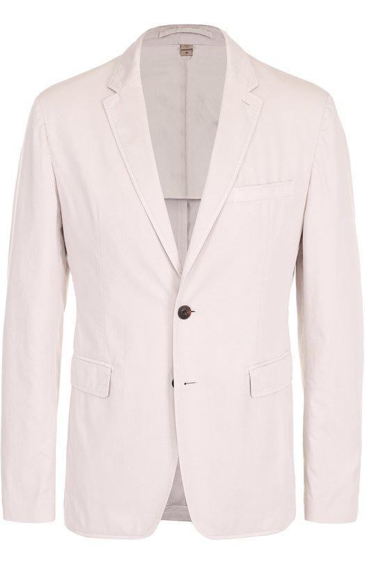 Хлопковый однобортный пиджак Burberry 4043901