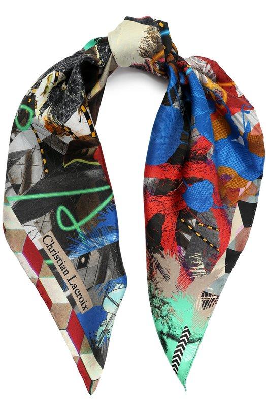 Шелковый платок с принтом Christian Lacroix 00036/7425/JN835