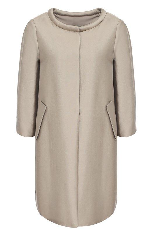Пальто прямого кроя с круглым вырезом Armani Collezioni VMB12T/VM186