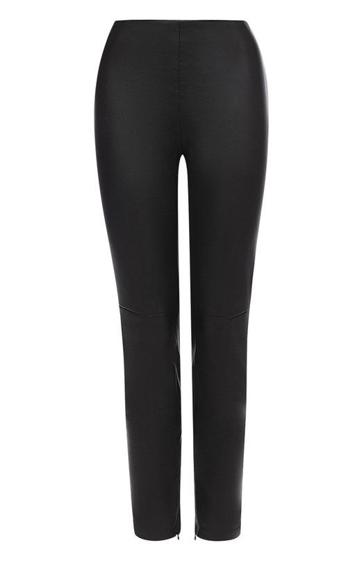 Купить Укороченные кожаные брюки-скинни Ralph Lauren, 940/IXQ44/FXQ44, США, Черный, Подкладка-хлопок: 95%; Подкладка-эластан: 5%; Кожа натуральная: 100%;