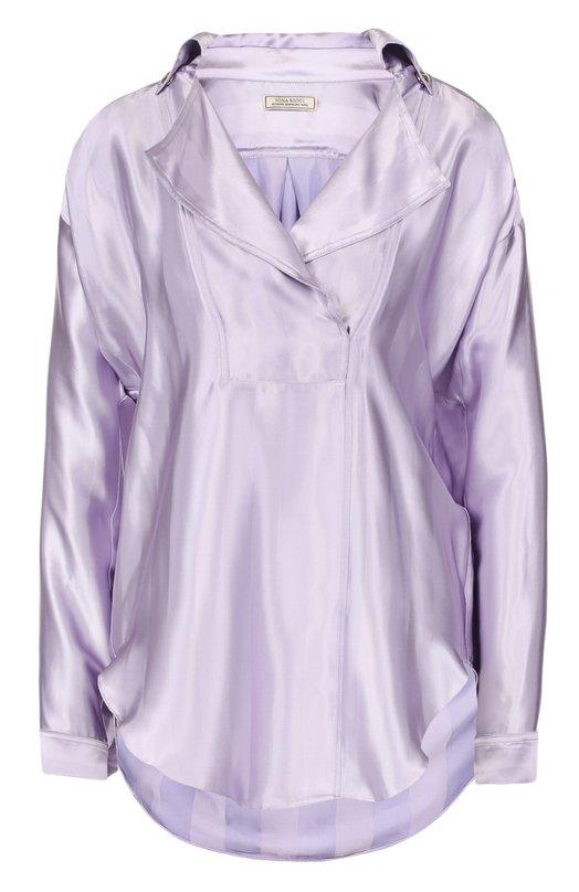Блуза свободного кроя с отложным воротником Nina Ricci 17ECT0045VI0397
