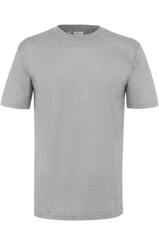 Хлопковая футболка с круглым вырезом Brioni UJ5Y/PZ600