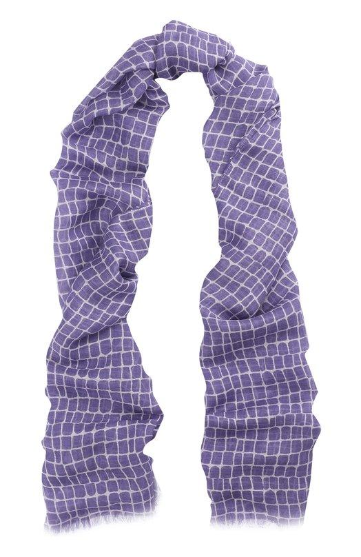 Шарф из смеси вискозы и льна с шелком Armani Collezioni 645200/7P704