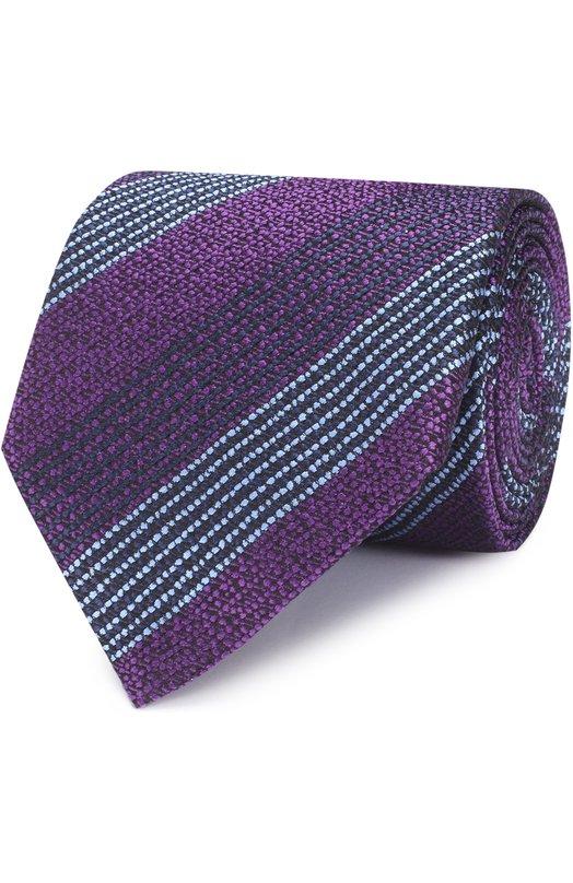 Шелковый галстук в полоску Ermenegildo Zegna Z9D371XW
