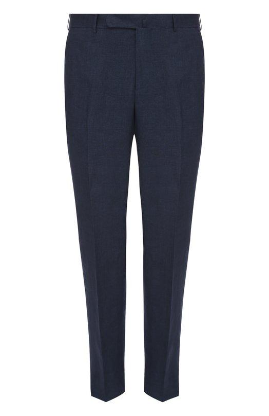 Льняные брюки прямого кроя Ermenegildo Zegna 972F1577SB12