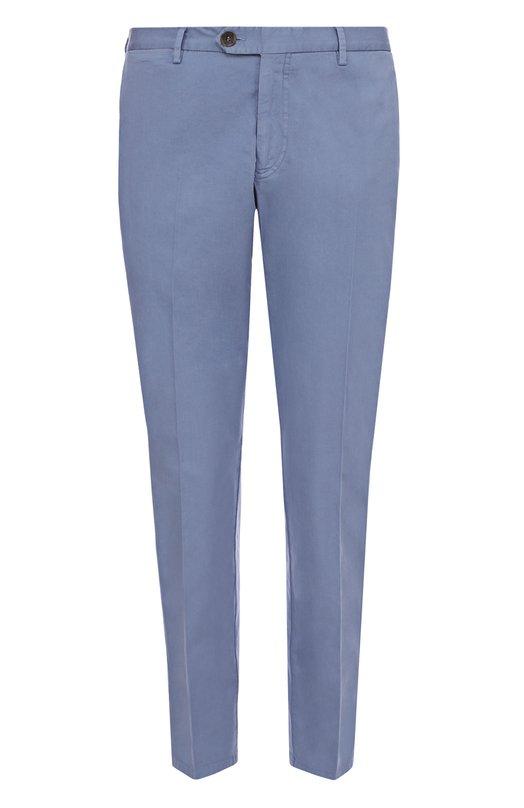 Хлопковые брюки прямого кроя Canali PT00232/93630