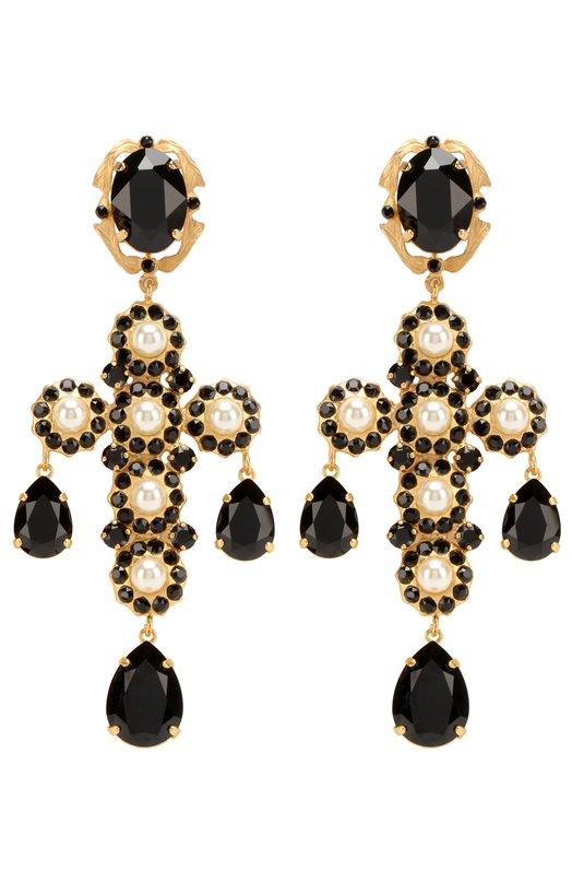 Серьги-клипсы с кристаллами Swarovski Dolce & Gabbana 0136/WEJ2P1/W0001
