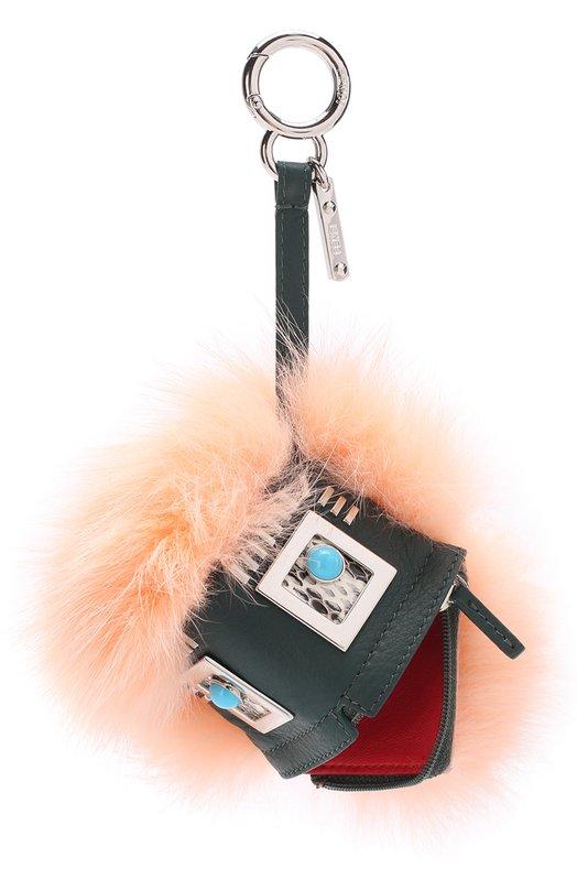 Брелок Bag Bug XXXX из меха норки и енота Fendi 7AR545/SQ0