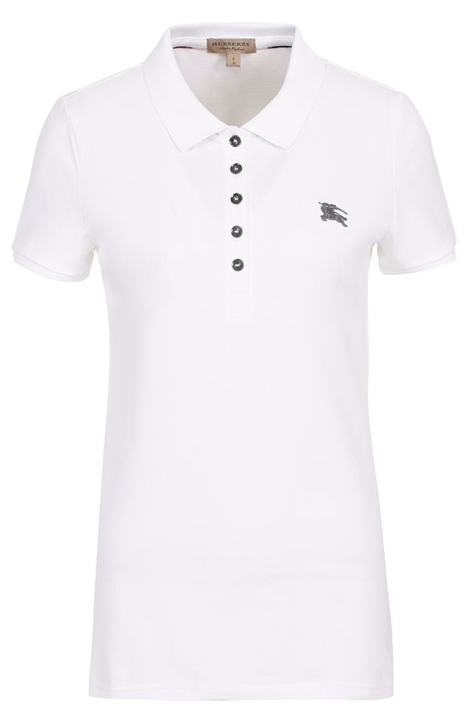 Хлопковое поло с логотипом бренда Burberry 3955963