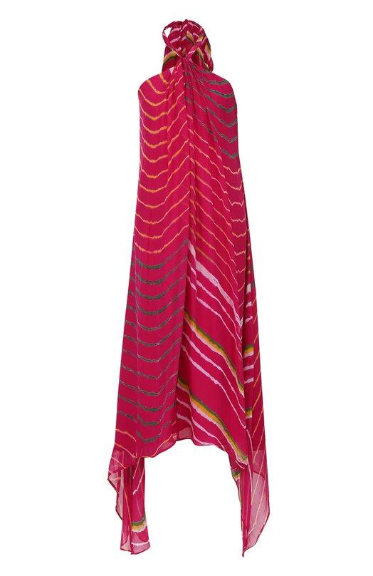 Купить Шелковое платье-миди асимметричного роя Polo Ralph Lauren Индия 5164948 V36/XZBZP/XYBZP