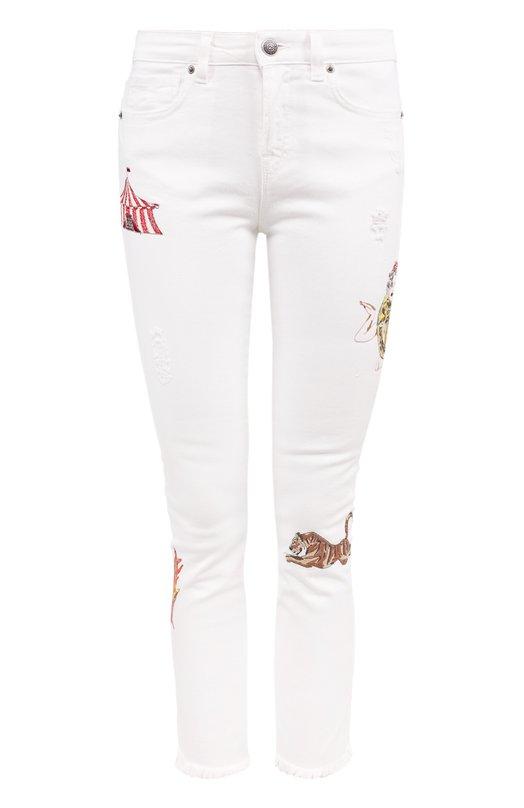 Укороченные джинсы-скинни с вышивкой Two Women In The World GAILA/NH90Y