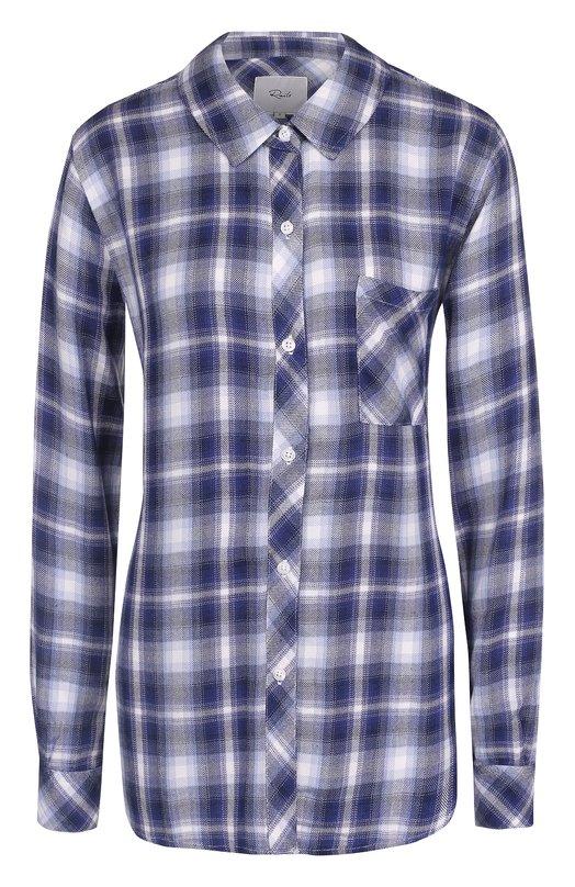 Купить Блуза свободного кроя в клетку Rails, HUNTER/550-027, Китай, Голубой, Вискоза: 100%;