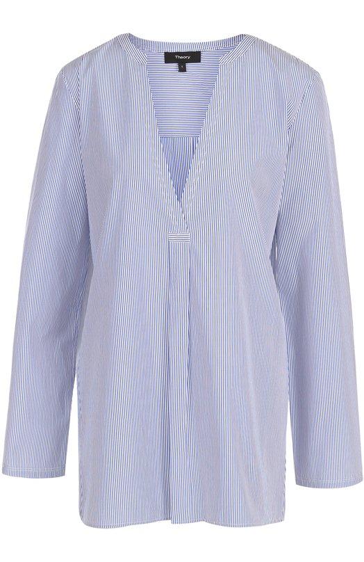 Блуза свободного кроя с V-образным вырезом Theory