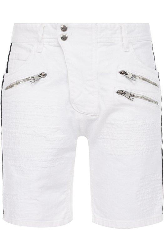 Джинсовые шорты с контрастной отделкой Just Cavalli S01MU0026/N31147