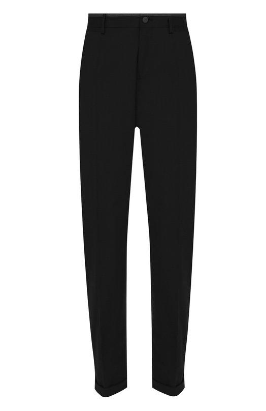 Шерстяные брюки прямого кроя с лампасами Dolce & Gabbana 0101/G6XAMT/FUBBG