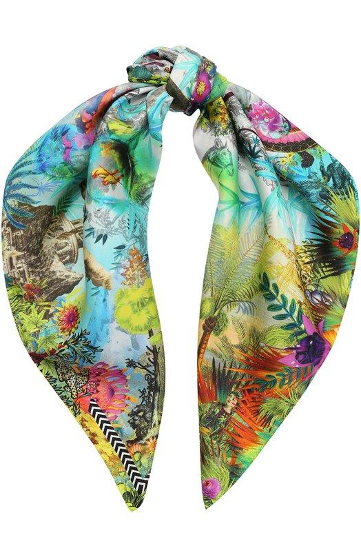 Шелковый платок с принтом Christian Lacroix 00036/7425/JN872