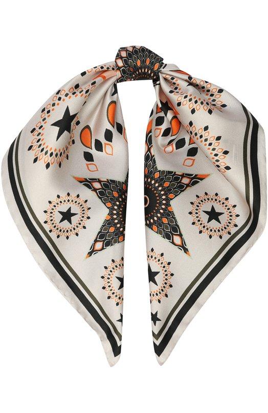 Шелковый платок с принтом Givenchy GW5050/SC780