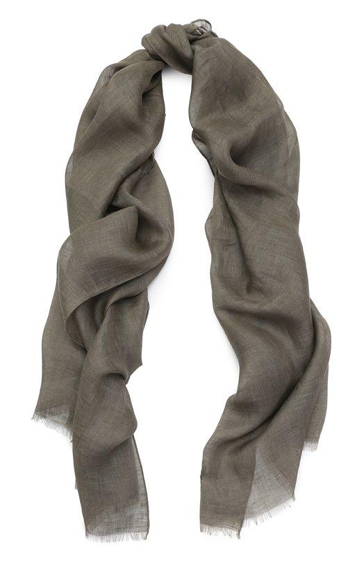 Льняной шарф с необработанным краем Brioni 03UD/P640K