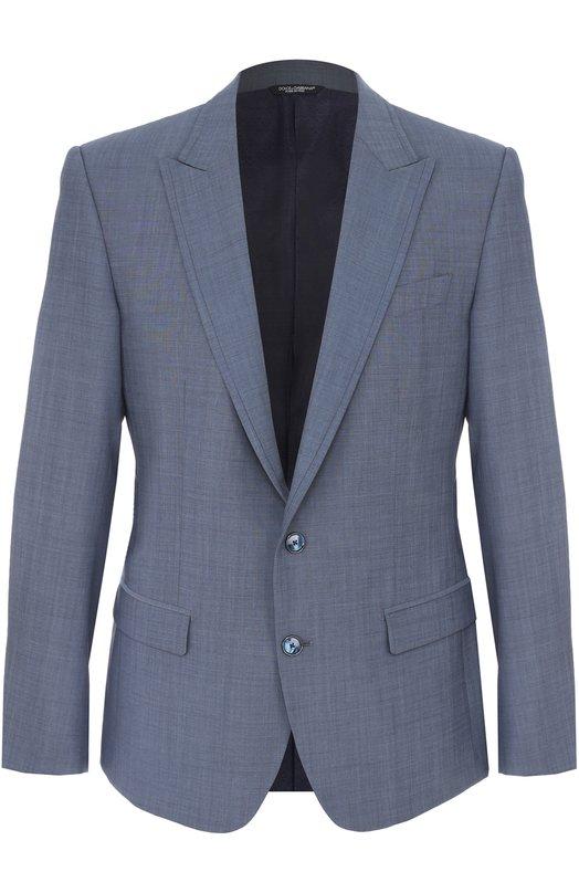 Шерстяной однобортный пиджак Dolce & Gabbana 0101/G2JN7T/FUBBG