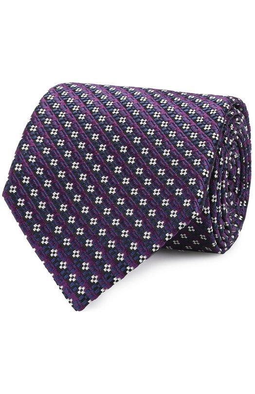 Шелковый галстук с узором Ermenegildo Zegna Z9D371L8